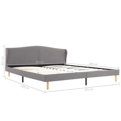 vidaXL Bed Frame Light Grey Fabric 150x200 cm