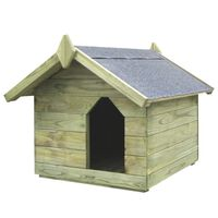 vidaXL Garden Dog House with Opening Roof Impregnated Pinewood
