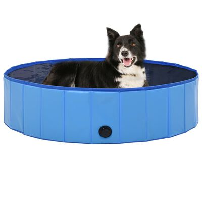 vidaXL Foldable Dog Swimming Pool Blue 120x30 cm PVC