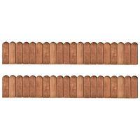 vidaXL Border Rolls 2 pcs 120 cm Impregnated Pinewood