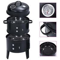 vidaXL 3-in-1 Charcoal Smoker BBQ Grill 40x80 cm