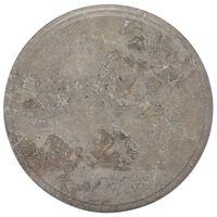 vidaXL Table Top Grey Ø40x2.5 cm Marble