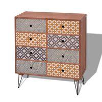 vidaXL Sideboard 8 Drawers Brown