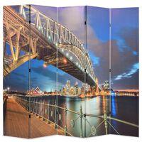 vidaXL Folding Room Divider 200x170 cm Sydney Harbour Bridge