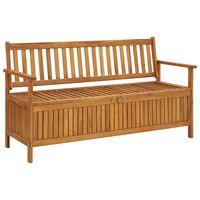 vidaXL Garden Storage Bench 148 cm Solid Acacia Wood