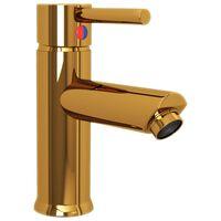 vidaXL Bathroom Basin Faucet Gold 130x176 mm