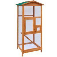 vidaXL Bird Cage Wood 65x63x165 cm