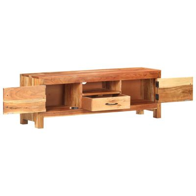 vidaXL TV Cabinet 116x30x40 cm Solid Acacia Wood