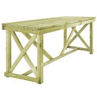 vidaXL Garden Table 160x79x75 cm Wood