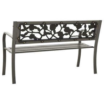 vidaXL Garden Bench 125 cm Steel Grey