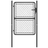 vidaXL Garden Gate Steel 100x150 cm Anthracite