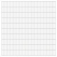 vidaXL 2D Garden Fence Panels 2.008x2.03 m 12 m (Total Length) Silver