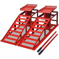 vidaXL Car Repair Ramps 2 pcs Red Steel