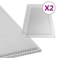vidaXL Polycarbonate Sheets 2 pcs 10 mm 150x65 cm