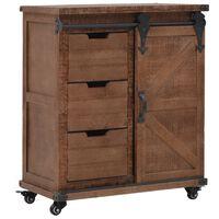 vidaXL Storage Cabinet Solid Fir Wood 64x33.5x75 cm Brown