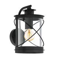 EGLO Outdoor Wall Light Hilburn 20x20x28cm Black