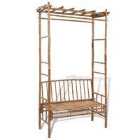 vidaXL Garden Bench with Pergola 130 cm Bamboo