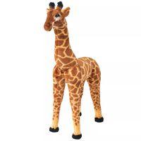 vidaXL Standing Plush Toy Giraffe Brown and Yellow XXL