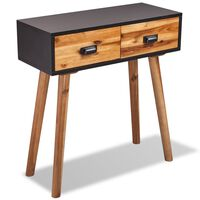 vidaXL Console Table Solid Acacia Wood 70x30x75 cm