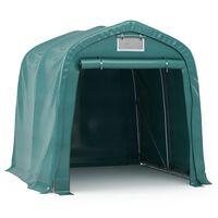 vidaXL Garage Tent PVC 1.6x2.4 m Green