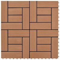 vidaXL 22 pcs Decking Tiles 30x30 cm 2 sqm WPC Black