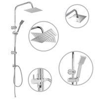 vidaXL Dual Head Shower Set with Hand Shower Stainless Steel