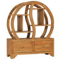 vidaXL Cabinet with Yin Yang Shelf 68x26x83 cm Solid Teak Wood