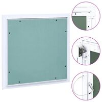 vidaXL Access Panel with Aluminium Frame and Plasterboard 200x200 mm