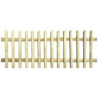 vidaXL Picket Fence Impregnated Pinewood 170x100 cm 5/7cm
