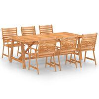 vidaXL 7 Piece Garden Dining Set Solid Acacia Wood