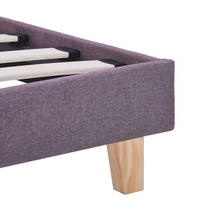 vidaXL Bed Frame Taupe Fabric 135x190 cm