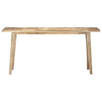 vidaXL Console Table 160x35x75 cm Rough Mango Wood