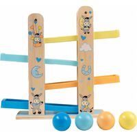 Happy People Wooden Marble Run Donkey Blue Yellow