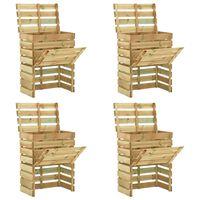 vidaXL Slatted Garden Composter 4pcs 80x50x100 cm Impregnated Pinewood