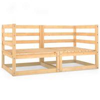 vidaXL Garden 2-Seater Sofa Solid Pinewood