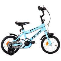 vidaXL Kids Bike 12 inch Black and Blue