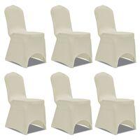Chair Cover Stretch Cream 6 pcs