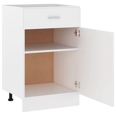 vidaXL Drawer Bottom Cabinet White 50x46x81.5 cm Chipboard
