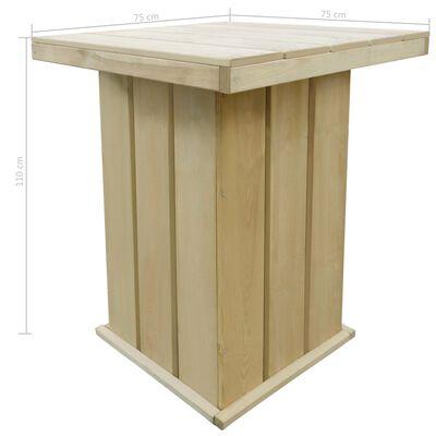 vidaXL Bar Table 75x75x110 cm Impregnated Pinewood