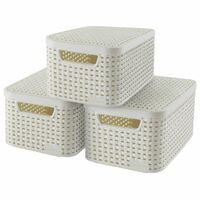 Curver Style Storage Box with Lid 3 pcs Size S White 240586
