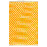 vidaXL Kilim Rug Cotton 120x180 cm with Pattern Yellow