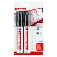 edding Permanent Marker 2pcs Black 800