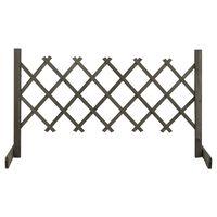 vidaXL Garden Trellis Fence Grey 120x60 cm Solid Firwood