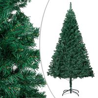vidaXL Artificial Christmas Tree with Thick Branches Green 210 cm PVC