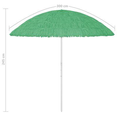 vidaXL Beach Umbrella Green 300 cm