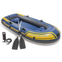 Intex Challenger 3 Set Inflatable Boat with Oars and Pump 68370NP