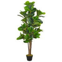 vidaXL Artificial Plant Fiddle Leaves with Pot Green 152 cm