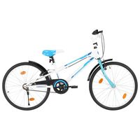 vidaXL Kids Bike 24 inch Blue and White