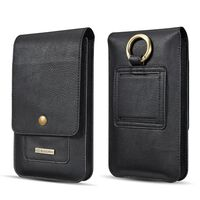 """Mobile phone belt pouch / smartphone holster 5.2 """"PU leather - black"""