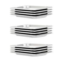 vidaXL Gastronorm Containers 12 pcs GN 1/4 20 mm Stainless Steel